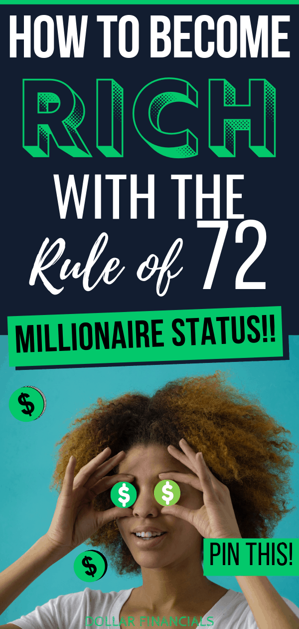 If you want to become rich, this investing money lesson is for you. You too can become rich at any age, whether in your 20s, 30s, 40s, 50s or later. The rule of 72 can help investing newbies strike it rich to become millionaires. #rich #money #howtogetrich #investingforbeginners #millionaire #financialfreedom #makemoney #investing #richmindset
